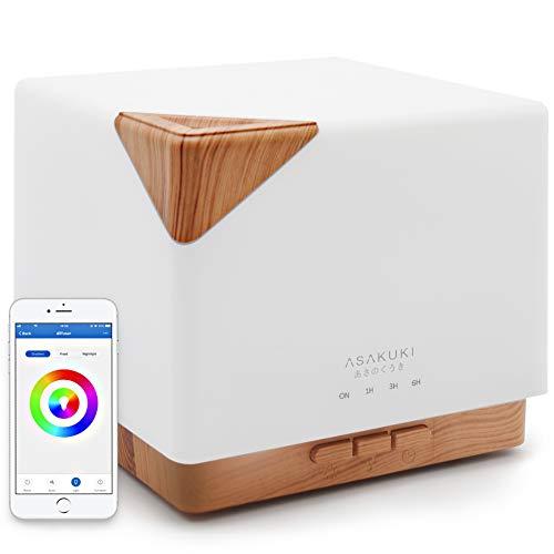 Asakuki 700ml Smart Wifi Essential Oil Diffuser