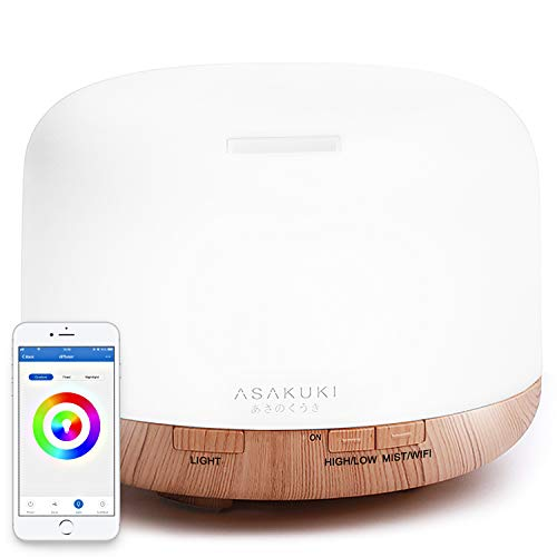 ASAKUKI Smart Essential Oil Diffuser Humidifier